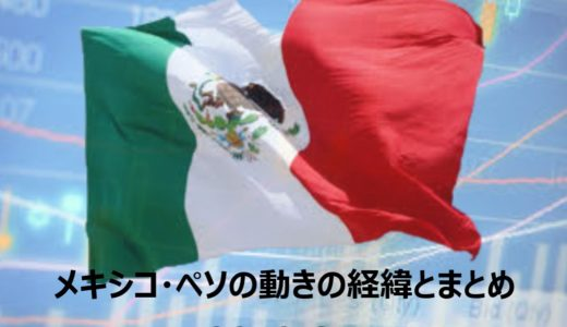 メキシコ・ペソの動きの経緯とまとめ2019年6月~